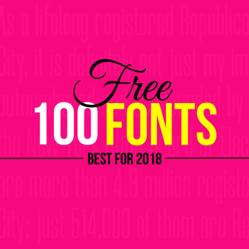 100+ Best Free Fonts for 2018