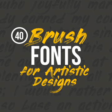 40+ Striking Brush Fonts for Artistic Designs