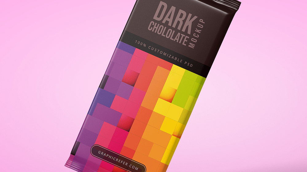 30+ Sweet Chocolate Bar Packaging Mockup Templates PSD