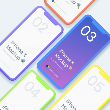 60+ Eye-Pleasing iPhone X Mockups Collection