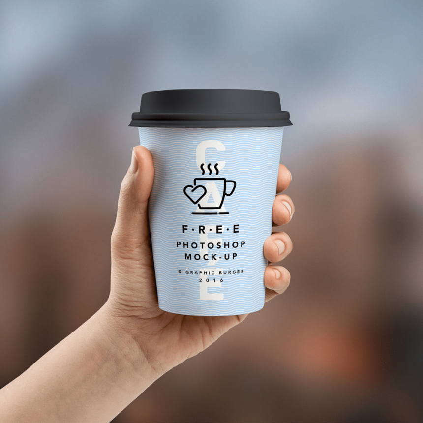 30+ Free Realistic Paper Cup Mockup Templates