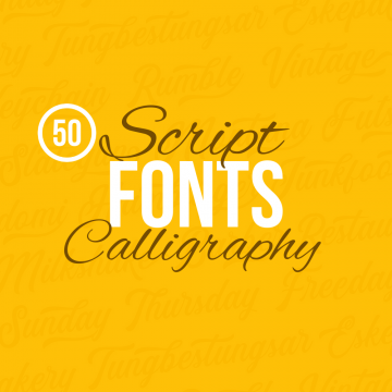 50+ Charming Script Calligraphy Fonts for Designers