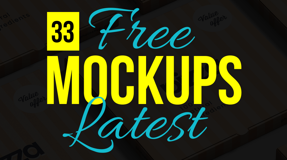 33 Latest Impressive (Free to Use) Mockup Templates