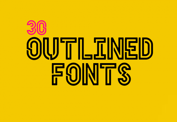 30+ Handsomely Created Outlined Fonts Collection