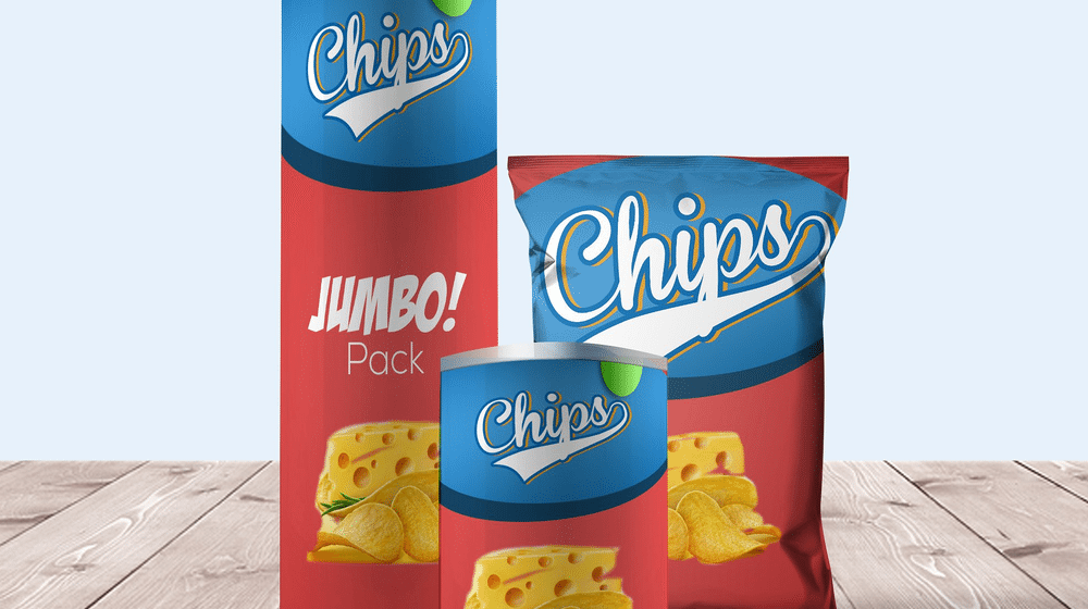 25+ Chips Packaging Mockup Templates for Presentation