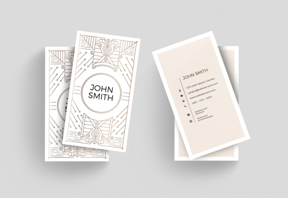 30+ Minimalistic & Clean Business Card Templates