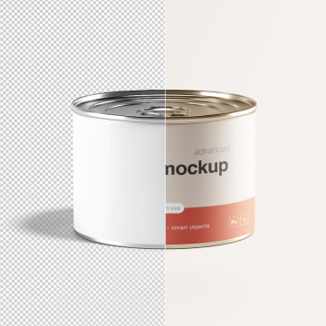 15+ Beneficial Short Tin Can Packaging Mockup Templates