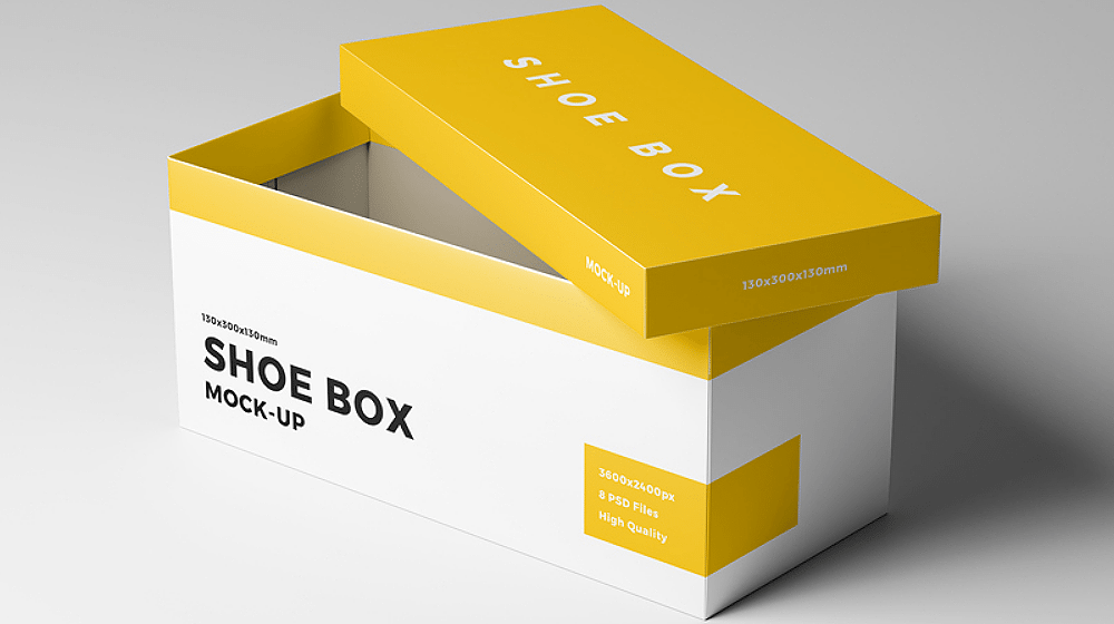 20+ Shoe Box Packaging Mockup Templates PSD