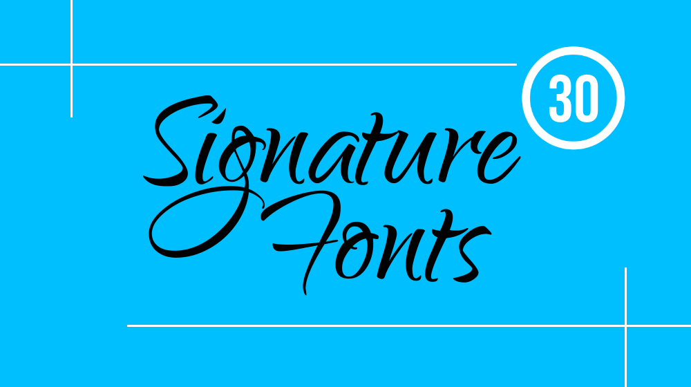 30+ Elegant Signature Fonts Collection for Typographic Projects