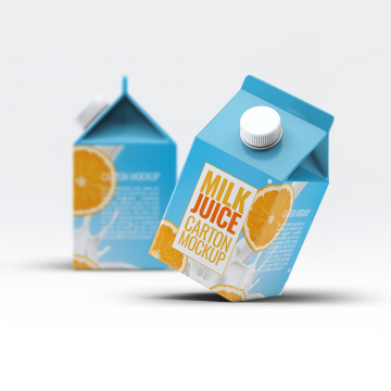 30+ Milk Packaging Mockup Templates PSD
