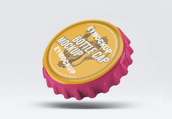 20+ Cool Bottle Cap Mockup Templates PSD
