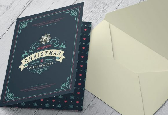 20+ Spectacular Christmas Card Templates for Photoshop