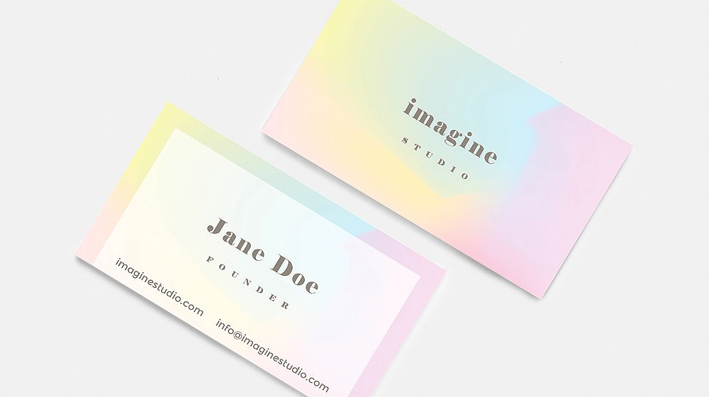 Gradient Colours Using in Business Cards for Inspiration (30 Examples)