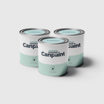 25+ Best Paint Bucket / Can Mockup Templates PSD