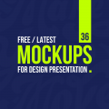 36 New Free Mockup Templates (PSD) for Design Presentation