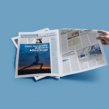 25+ Newspaper Ad Mockup Templates PSD
