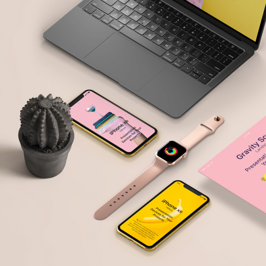 PSD Devices Mockup Templates | 1