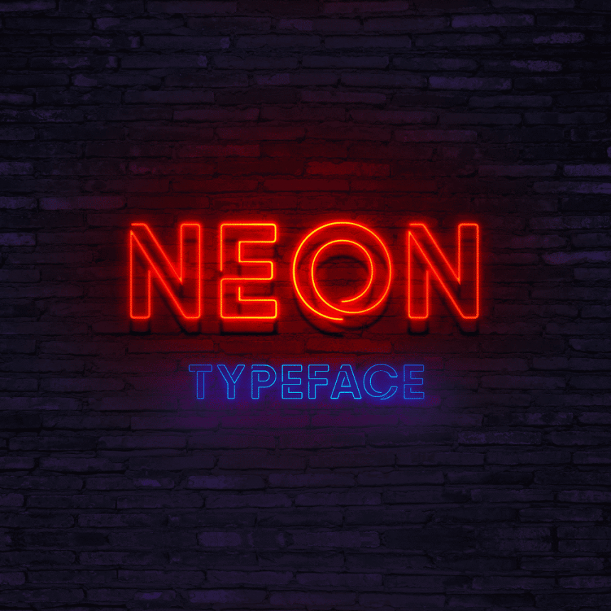30+ Massively Beautiful Neon Fonts for Your Dope Designs