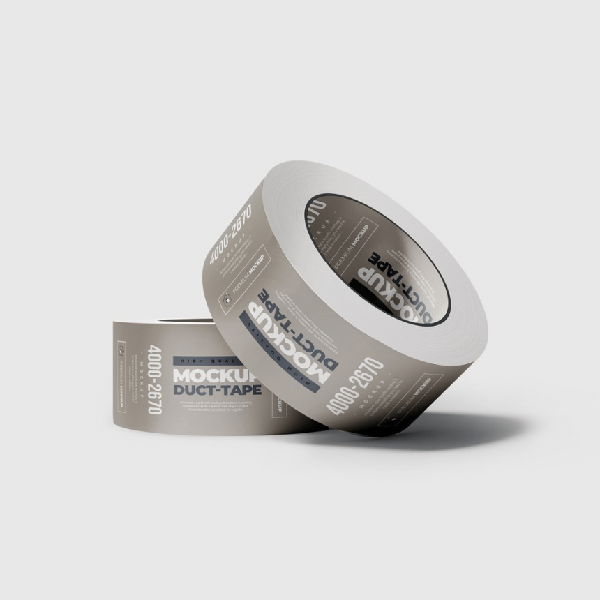 15+ Neat Duct Tape Mockup Templates PSD