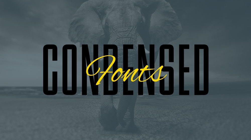 30+ Remarkable Condensed Fonts for Rich Typeface