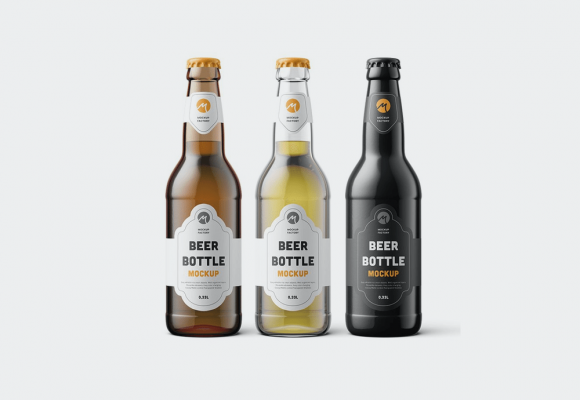 35+ Ultra-Realistic Beer Bottle Mockup Templates