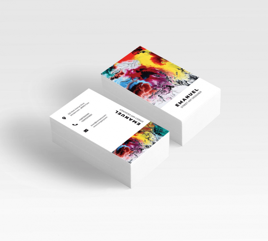 30+ Handsomely Created Business Cards with Watercolor Design