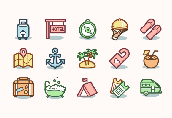25+ Perfect Hotel Icons for Travel Business