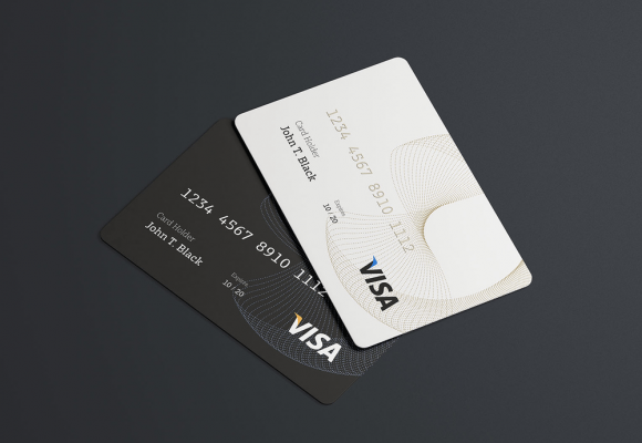 35+ Beautiful Credit Card Mockup Templates PSD