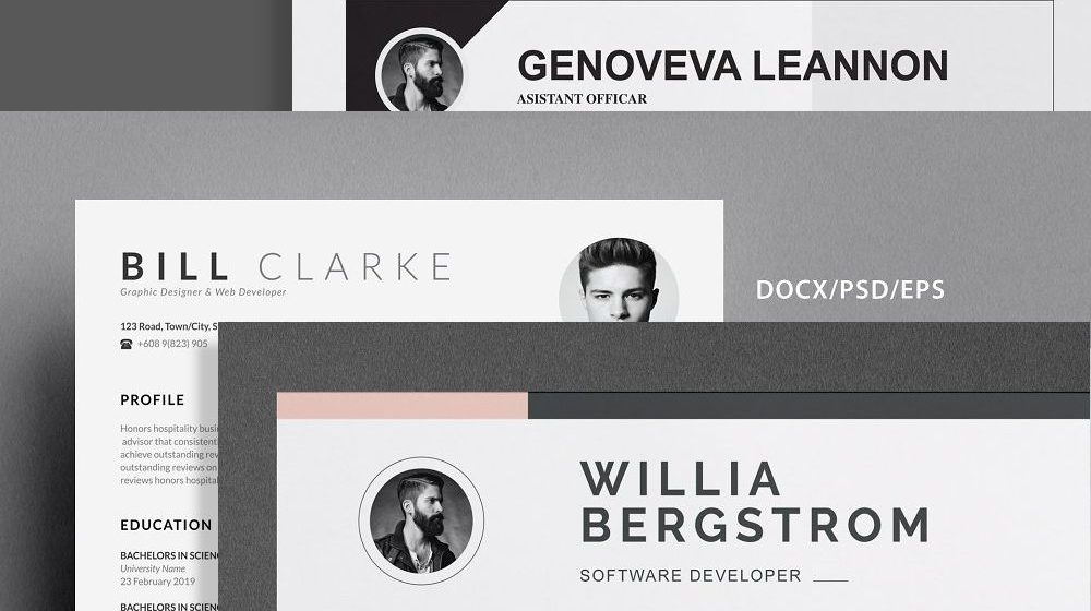 30+ Elegant CV / Resume Templates with Cover Letter