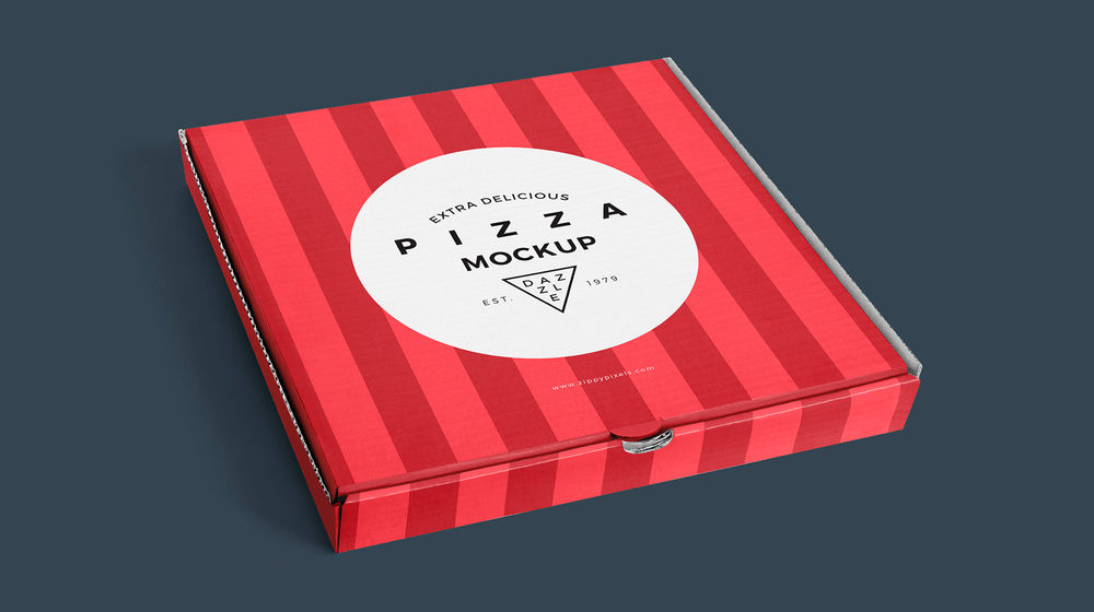 30+ Creative Pizza Box Packaging Mockups