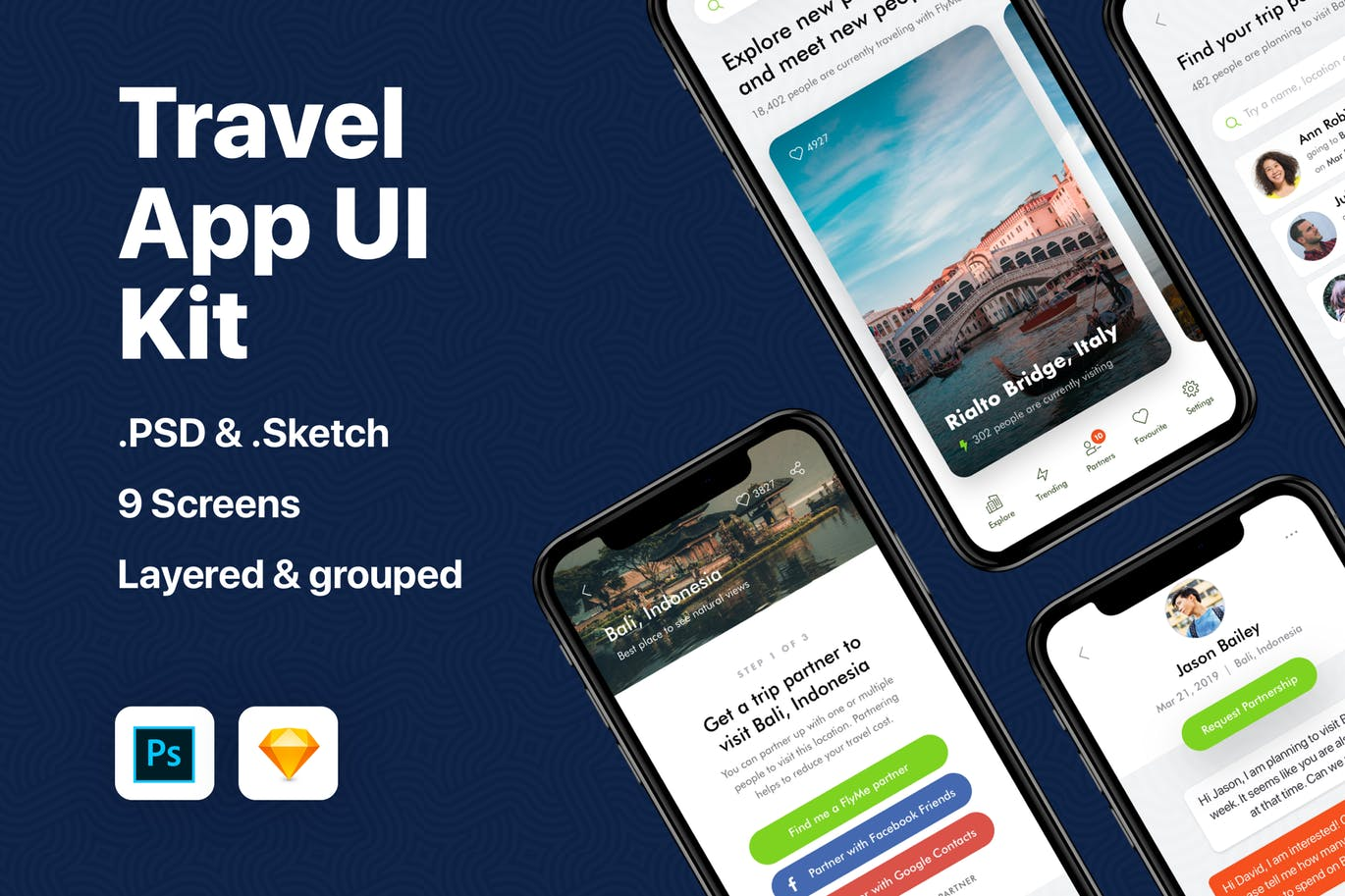 30+ Best Mobile App UI Kits for iOS & Android