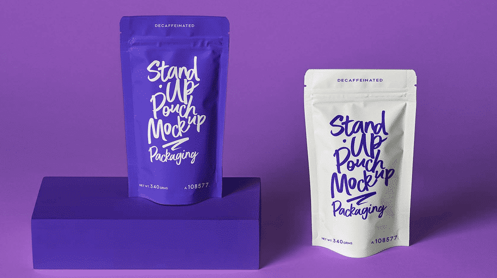 30+ High Quality Pouch Packaging Mockup Templates