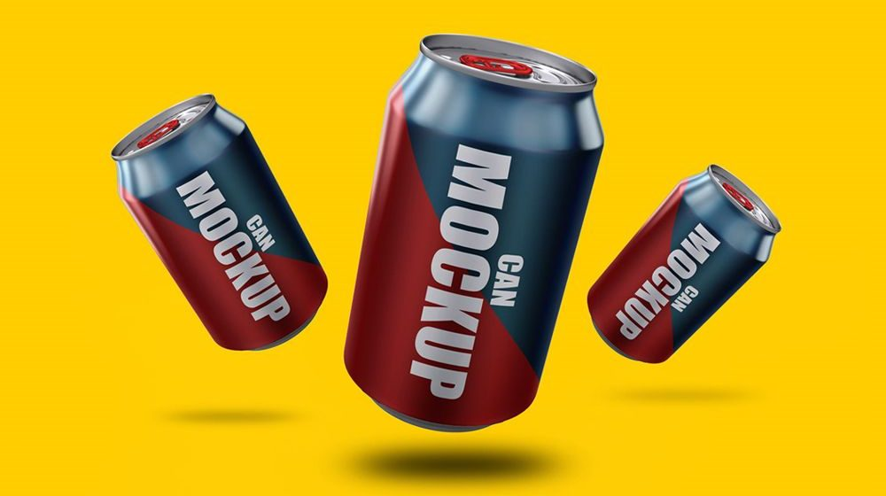 30+ Best Can / Soft Drink Packaging Mockup Templates