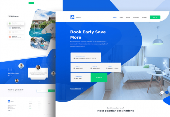 30 Best Hotel / Travel Booking Website Designs for Inspiration
