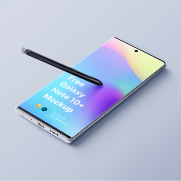 20+ Samsung Galaxy Note 10 / 10+ Mockups