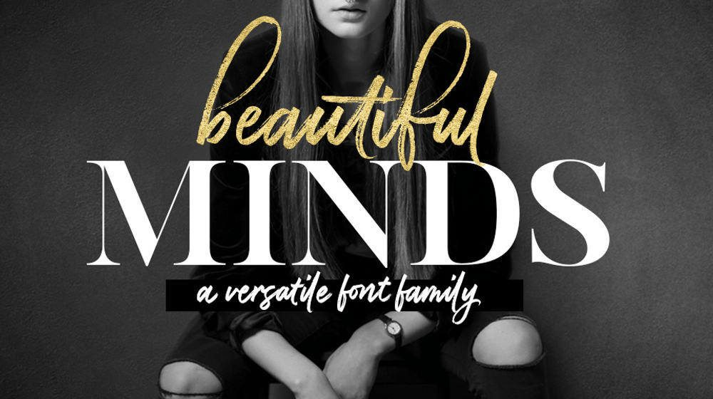Beautiful Minds – A Versatile Font Family by Design Cuts