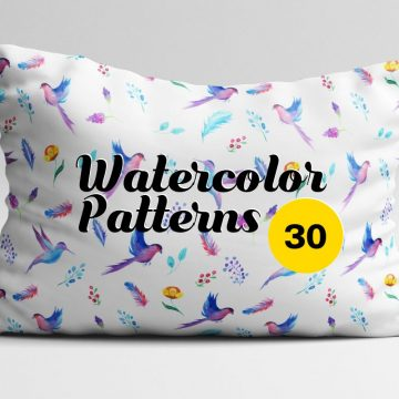 30+ Flawless Watercolor Patterns for Designers