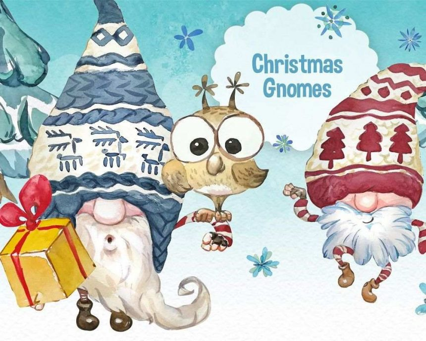 15+ Super Cute Christmas Gnomes Graphics
