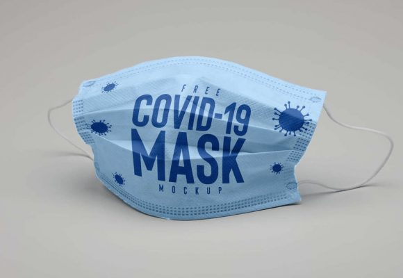 30+ Face Mask Mockup Templates PSD