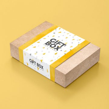 30+ Brilliant Gift Box Mockups for Presentation