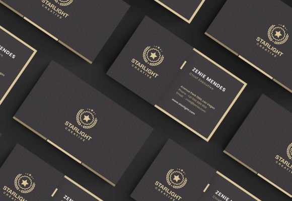 20+ Elegant Gold and Black Business Card Templates