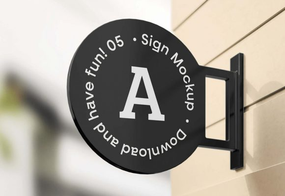 25+ Best Shop Sign Mockup Templates PSD