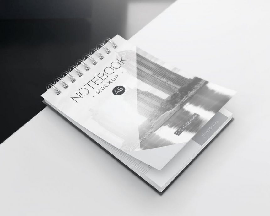 30+ Best Spiral Notebook PSD Mockup Templates