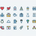 20+ Elegant Wedding Icon Sets