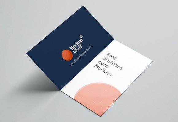 20+ Best Folded Business Card Mockups